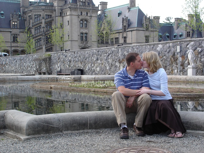My husband and I when we were dating and dreaming of our furture castle! Biltmore photo by Rachel Schumate