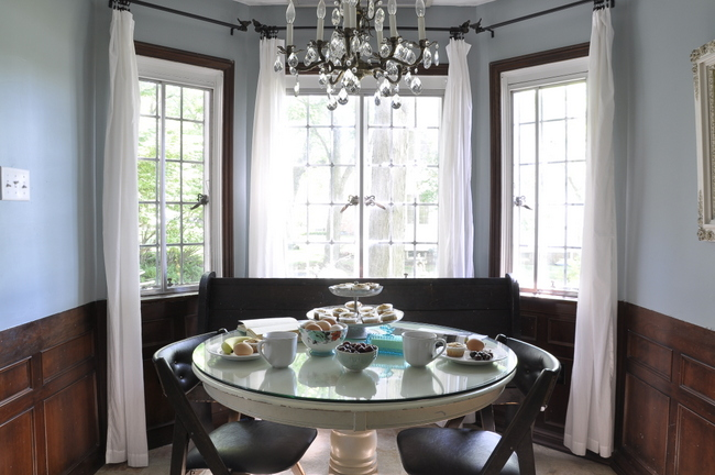brunch in breakfast nook