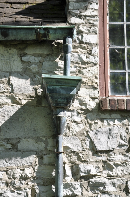 stone house castle copper gutter