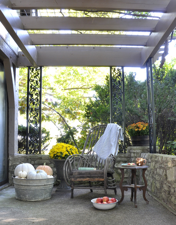 The pergola off our sunroom is such a lovely spot!
