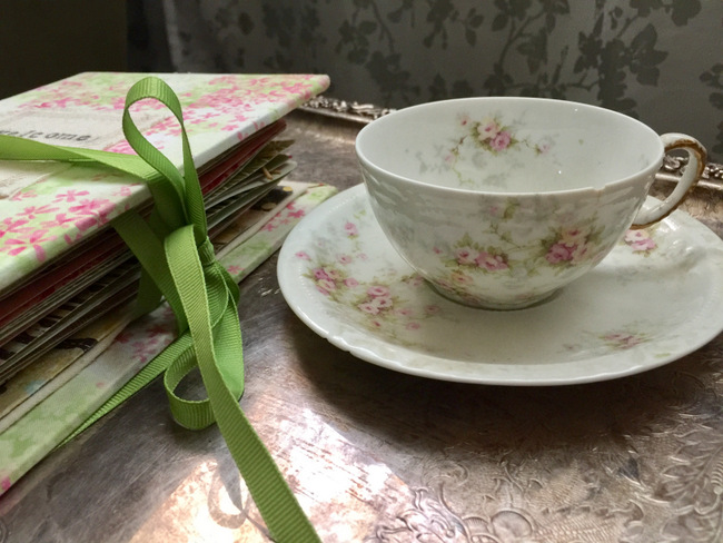 The vintage floral teacup was one of the decorations at my daughter's first birthday party!