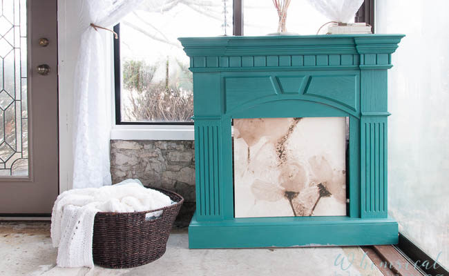 How To Spray Paint a Wooden Mantel