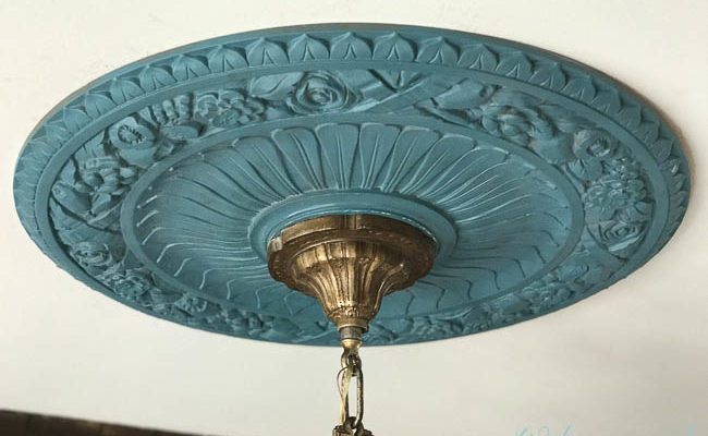 How To Paint a Ceiling Medallion