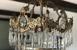 A Vintage Crystal Chandelier For Our Living Room