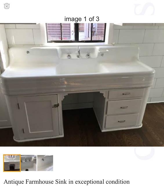 a vintage kitchen sink. Black Bedroom Furniture Sets. Home Design Ideas