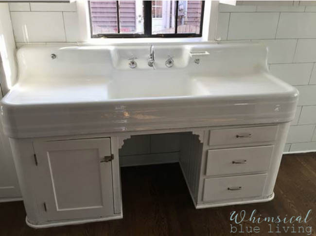 Vintage Kitchen Sink Cabinet what should we do for a kitchen sink cabinet