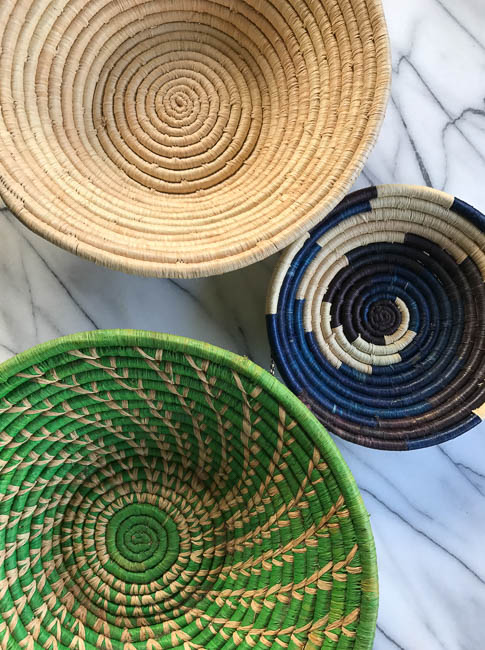 Baskets made by local artist in Uganda for sale through Root Cause Uganda.