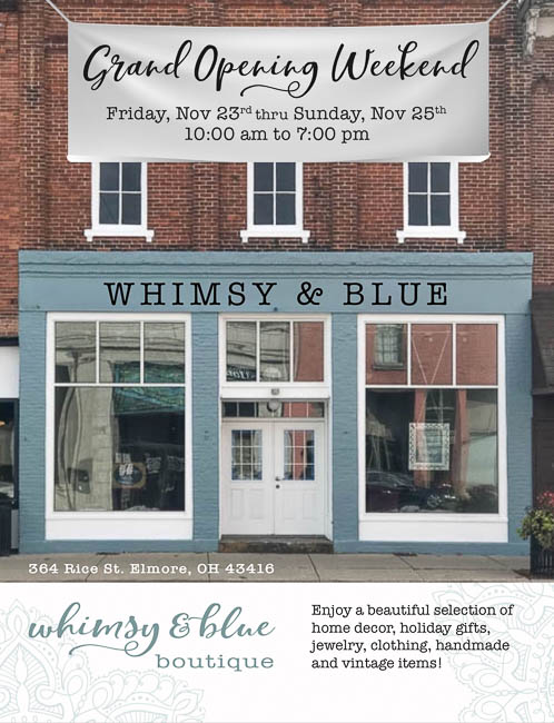 Whimsy Blue Boutique Grand Opening Announcement